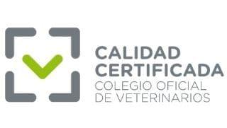 Logo oficial calidad certificada veterinario